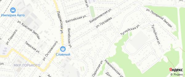 Тугнуйская улица на карте территории ДНТ Карнед с номерами домов