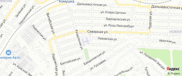 Львовская улица на карте Улан-Удэ с номерами домов