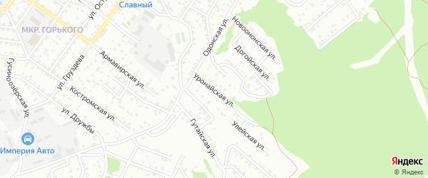 Уронайская улица на карте Улан-Удэ с номерами домов