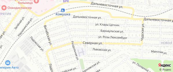 Парковая улица на карте Улан-Удэ с номерами домов