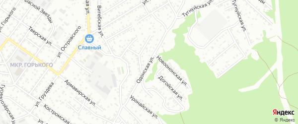 Одонская улица на карте Улан-Удэ с номерами домов
