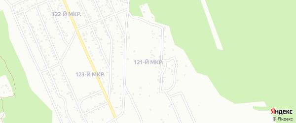 121-й микрорайон на карте Улан-Удэ с номерами домов