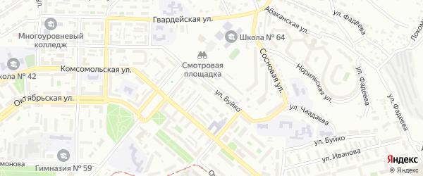 Улица Буйко на карте Улан-Удэ с номерами домов