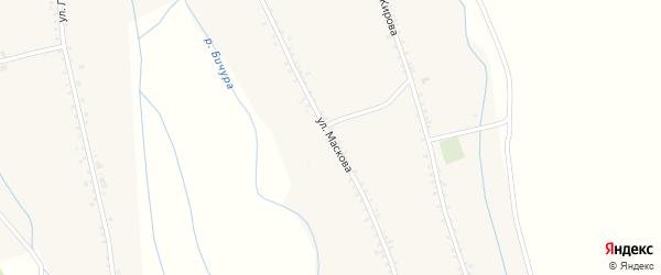 Улица Маскова на карте села Бичура с номерами домов