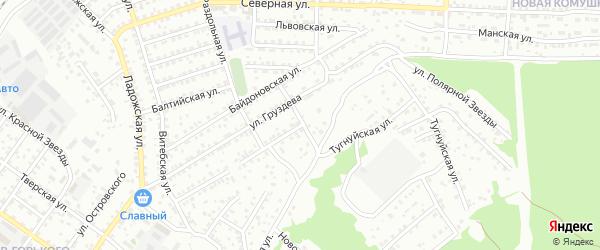 Тугнуйская улица на карте Улан-Удэ с номерами домов
