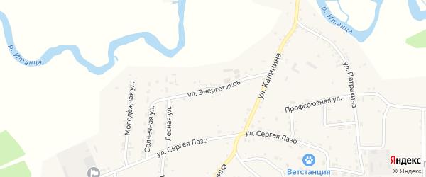 Улица Энергетиков на карте села Турунтаево с номерами домов