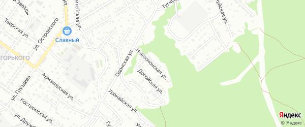 Новоононская улица на карте Улан-Удэ с номерами домов