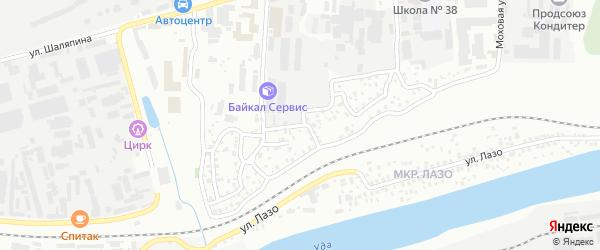 Амбулаторная улица на карте Улан-Удэ с номерами домов