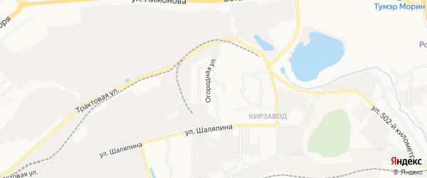 Карта территории ДНТ им Мичурина города Улан-Удэ в Бурятии с улицами и номерами домов