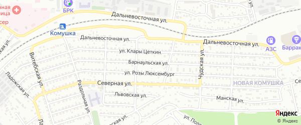 Барнаульская улица на карте Улан-Удэ с номерами домов