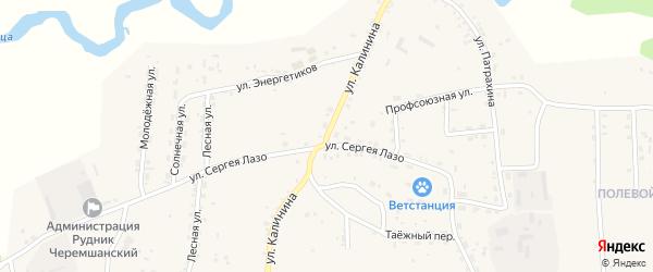 Улица Калинина на карте села Турунтаево с номерами домов