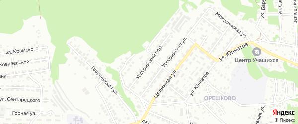 Уссурийский переулок на карте Улан-Удэ с номерами домов