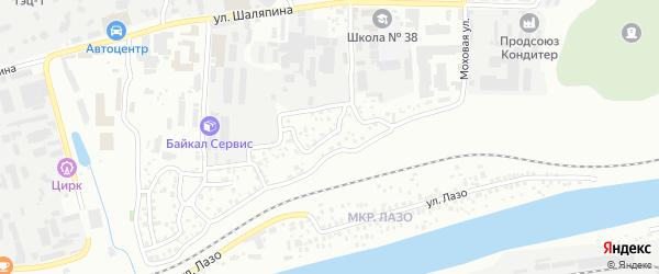 Читинская улица на карте Улан-Удэ с номерами домов
