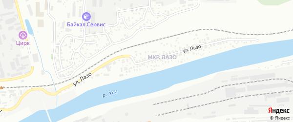 Улица Лазо на карте Улан-Удэ с номерами домов