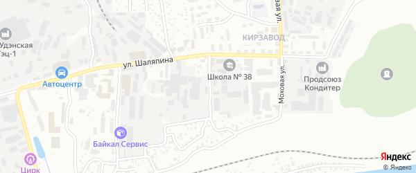 Улица Рокоссовского на карте Улан-Удэ с номерами домов