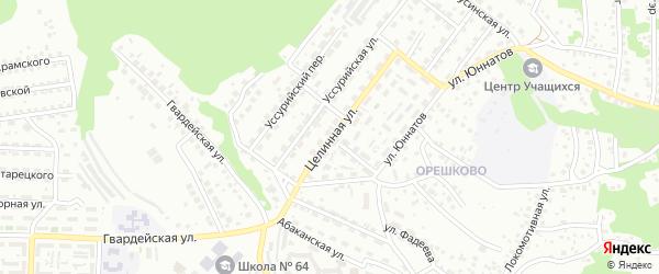 Целинная улица на карте Улан-Удэ с номерами домов