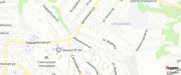 Астраханская улица на карте Улан-Удэ с номерами домов