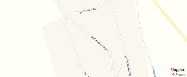 Юбилейная улица на карте села Шаралдая с номерами домов