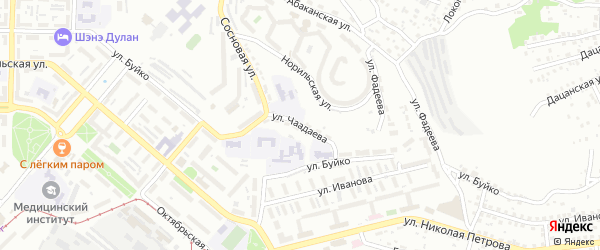 Улица Чаадаева на карте Улан-Удэ с номерами домов