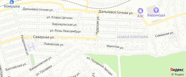 Северная улица на карте Улан-Удэ с номерами домов