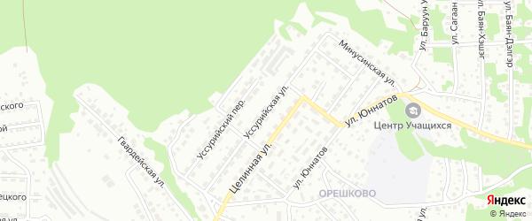 Уссурийская улица на карте Улан-Удэ с номерами домов