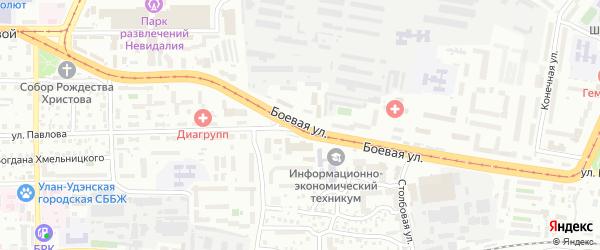 Боевая улица на карте Улан-Удэ с номерами домов