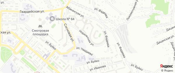 Норильская улица на карте Улан-Удэ с номерами домов
