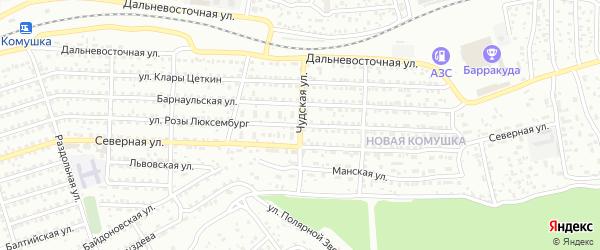 Чудская улица на карте Улан-Удэ с номерами домов