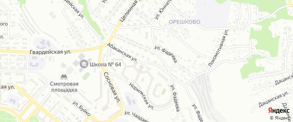 Абаканская улица на карте Улан-Удэ с номерами домов