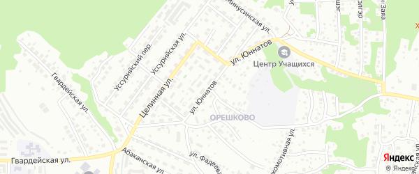 Улица Юннатов на карте Улан-Удэ с номерами домов