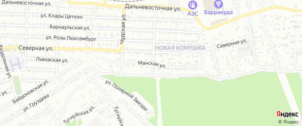Манская улица на карте Улан-Удэ с номерами домов
