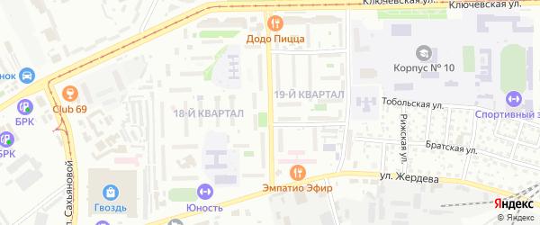 Дарханская улица на карте Улан-Удэ с номерами домов