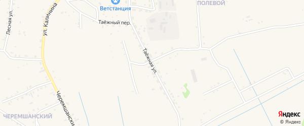 Таежная улица на карте села Турунтаево с номерами домов