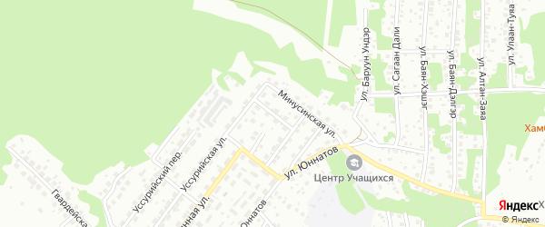 Агрономический переулок на карте Улан-Удэ с номерами домов