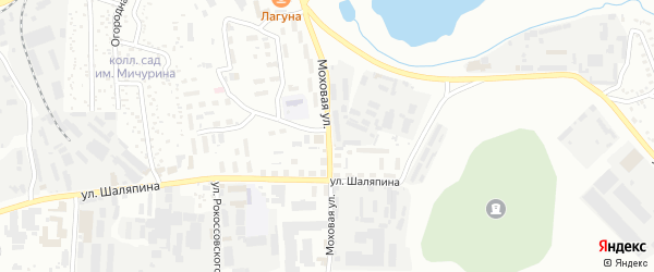 Моховая улица на карте Улан-Удэ с номерами домов