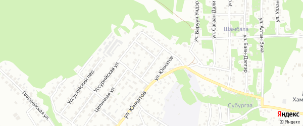 Агрономическая улица на карте Улан-Удэ с номерами домов