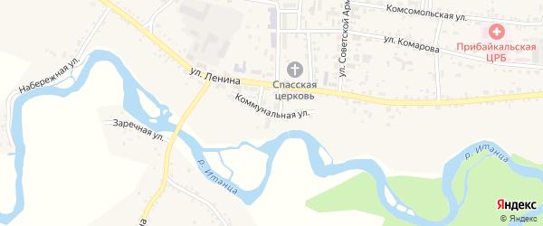 Коммунальная улица на карте села Турунтаево с номерами домов