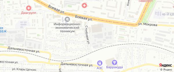 Столбовая улица на карте Улан-Удэ с номерами домов