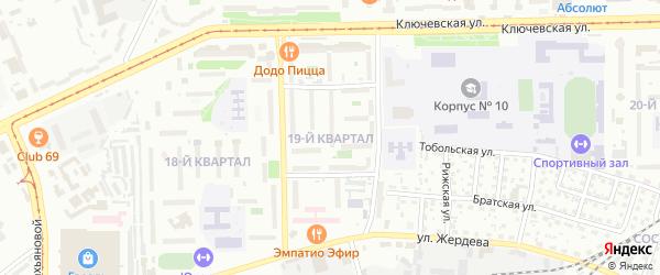19-й квартал на карте Улан-Удэ с номерами домов