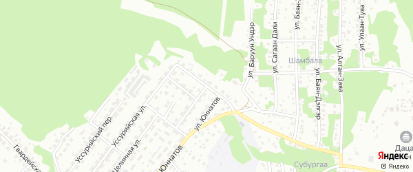 Минусинская улица на карте Улан-Удэ с номерами домов