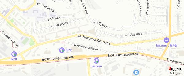 Улица Н.Петрова на карте Улан-Удэ с номерами домов