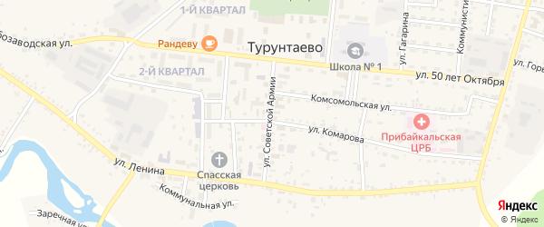 Ягодная улица на карте села Турунтаево с номерами домов