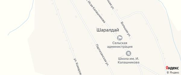 Улица Гагарина на карте села Шаралдая с номерами домов