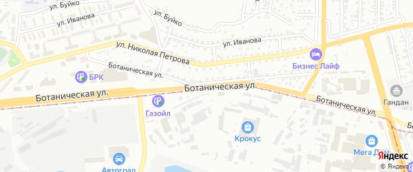 Ботаническая улица на карте Улан-Удэ с номерами домов