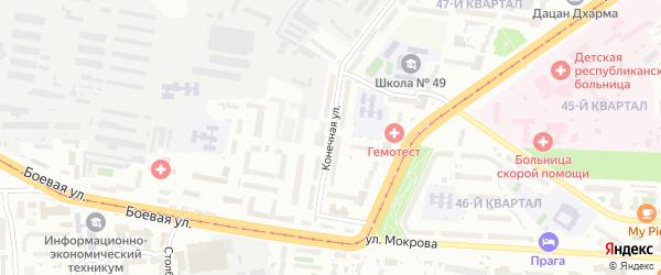 Конечная улица на карте Улан-Удэ с номерами домов
