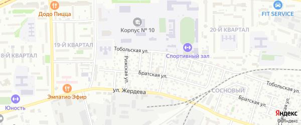Братский переулок на карте Улан-Удэ с номерами домов