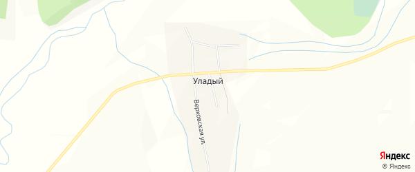 Карта села Уладого в Бурятии с улицами и номерами домов