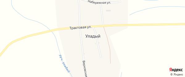 Трактовая улица на карте села Уладого с номерами домов