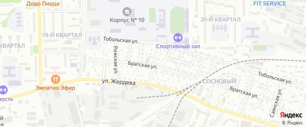 Ялтинская улица на карте Улан-Удэ с номерами домов