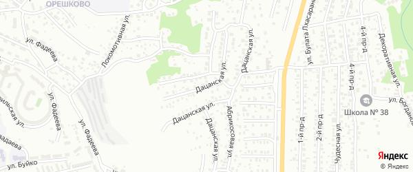 Дацанская улица на карте Улан-Удэ с номерами домов